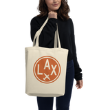 RWY23 - LAX Los Angeles Organic Tote - Airport Code & Vintage Roundel Design - Environmentally-Conscious Gift