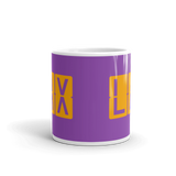 RWY23 - LAX Los Angeles, California Airport Code Coffee Mug - Teacher Gift, Airbnb Decor - Orange and Purple - Side
