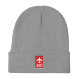 RWY23 - ANC Anchorage Retro Jetliner Airport Code Dad Hat - Grey - Student Gift