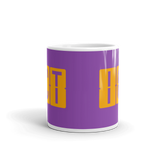 RWY23 - ICT Wichita, Kansas Airport Code Coffee Mug - Teacher Gift, Airbnb Decor - Orange and Purple - Side