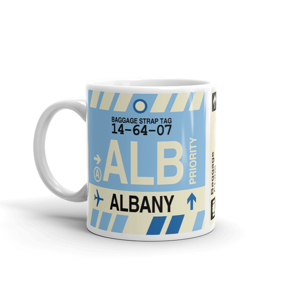 RWY23 - ALB Albany Airport Code Coffee Mug - Birthday Gift, Christmas Gift - Left