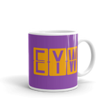 RWY23 - EYW Key West, Florida Airport Code Coffee Mug - Graduation Gift, Housewarming Gift - Orange and Purple - Right