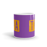 RWY23 - TPA Tampa, Florida Airport Code Coffee Mug - Teacher Gift, Airbnb Decor - Orange and Purple - Side