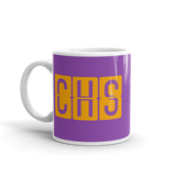 RWY23 - CHS Charleston, South Carolina Airport Code Coffee Mug - Birthday Gift, Christmas Gift - Orange and Purple - Left