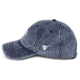 RWY23 - HNL Honolulu Vintage Roundel Airport Code Cotton Twill Cap - Navy Blue - Left Side - Travel Gift