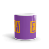 RWY23 - EYW Key West, Florida Airport Code Coffee Mug - Teacher Gift, Airbnb Decor - Orange and Purple - Side