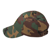 RWY23 - CHS Charleston Retro Jetliner Airport Code Dad Hat - Green Camo - Left Side - Travel Gift