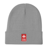 RWY23 - CHS Charleston Retro Jetliner Airport Code Dad Hat - Grey - Student Gift