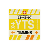 RWY23 - YTS Timmins, Ontario Airport Code Throw Pillow Cover - Birthday Gift Christmas Gift