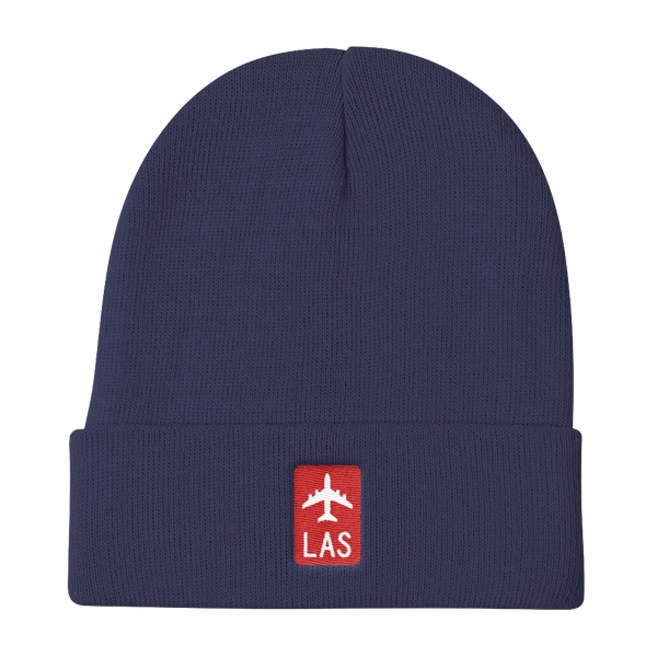 RWY23 - LAS Las Vegas Retro Jetliner Airport Code Dad Hat - Navy Blue - Aviation Gift