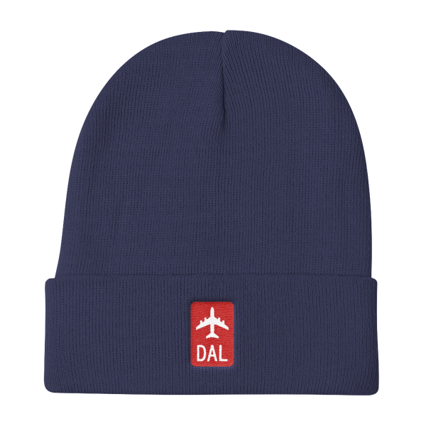 RWY23 - DAL Dallas Retro Jetliner Airport Code Dad Hat - Navy Blue - Aviation Gift