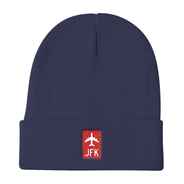 RWY23 - JFK New York Retro Jetliner Airport Code Dad Hat - Navy Blue - Aviation Gift