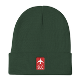 RWY23 - SLC Salt Lake City Retro Jetliner Airport Code Dad Hat - Dark Green - Birthday Gift