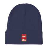 RWY23 - CHS Charleston Retro Jetliner Airport Code Dad Hat - Navy Blue - Aviation Gift