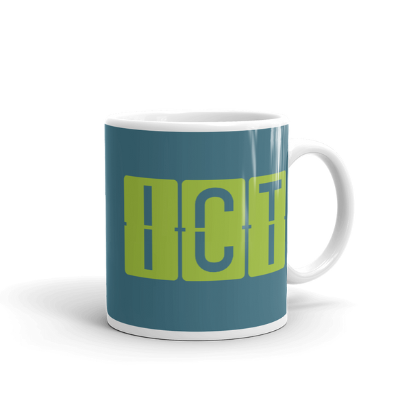 RWY23 - ICT Wichita, Kansas Airport Code Coffee Mug - Graduation Gift, Housewarming Gift - Green and Teal - Right