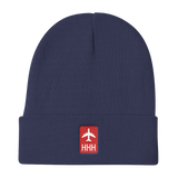 RWY23 - HHH Hilton Head Island Retro Jetliner Airport Code Dad Hat - Navy Blue - Aviation Gift