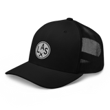 RWY23 - LAS Las Vegas Airport Code Trucker Cap - City-Themed Merchandise - Roundel Design with Vintage Airplane - Image 6