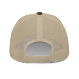 RWY23 - JAX Jacksonville Airport Code Trucker Cap - City-Themed Merchandise - Roundel Design with Vintage Airplane - Image 5