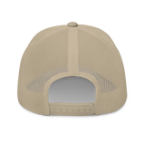 RWY23 - JAX Jacksonville Airport Code Trucker Cap - City-Themed Merchandise - Roundel Design with Vintage Airplane - Image 10