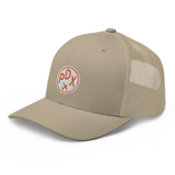RWY23 - PDX Portland Airport Code Trucker Cap - City-Themed Merchandise - Roundel Design with Vintage Airplane - Image 11