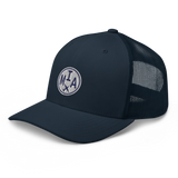 RWY23 - MIA Miami Airport Code Trucker Cap - City-Themed Merchandise - Roundel Design with Vintage Airplane - Image 6