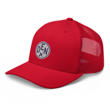 RWY23 - DEN Denver Airport Code Trucker Cap - City-Themed Merchandise - Roundel Design with Vintage Airplane - Image 11