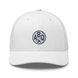 RWY23 - ABQ Albuquerque Airport Code Trucker Cap - City-Themed Merchandise - Roundel Design with Vintage Airplane - Image 12