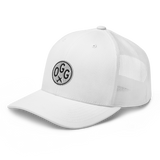 RWY23 - OGG Maui Airport Code Trucker Cap - City-Themed Merchandise - Roundel Design with Vintage Airplane - Image 14