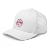 RWY23 - HHH Hilton Head Island Airport Code Trucker Cap - City-Themed Merchandise - Roundel Design with Vintage Airplane - Image 8