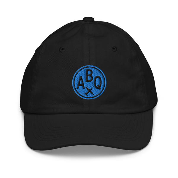 RWY23 - ABQ Albuquerque Kids Hat - Children's Baseball Cap with Airport Code - Image 1