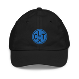 RWY23 - CLT Charlotte Kids Hat - Children's Baseball Cap with Airport Code - Image 1