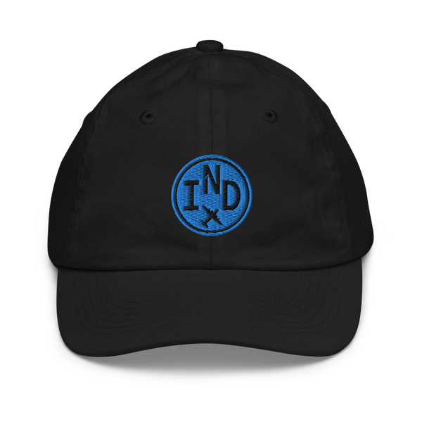 RWY23 - IND Indianapolis Kids Hat - Children's Baseball Cap with Airport Code - Image 1