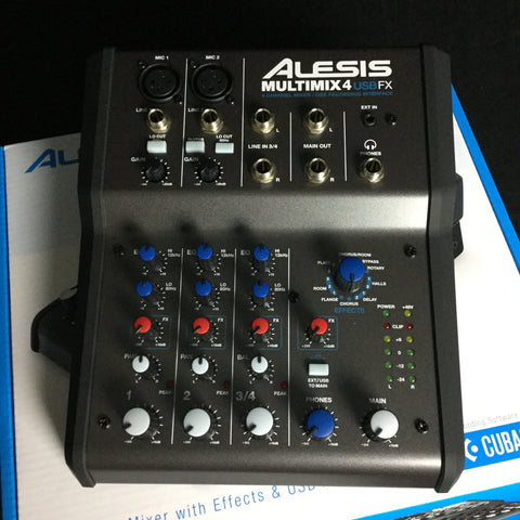 Alesis Mulitmix 4 USB FX Mixer & Usb Audio Interface (NEW)
