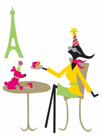 French Birthday Girl Greeting Card