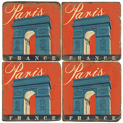 Arc de Triomphe Coasters - set of 4