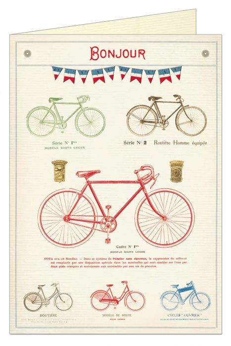 Bicylces-Bonjour Greeting Cards