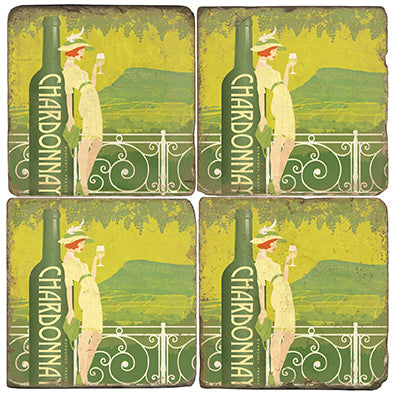 Chardonnay Coaster - set of 4