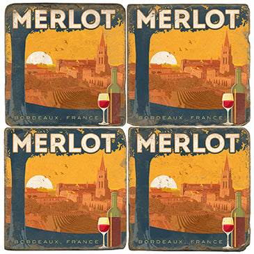 Merlot Coaster  - set of 4