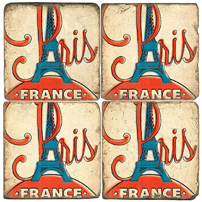Paris France Coaster Set