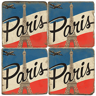 Vintage Paris France Coaster Set