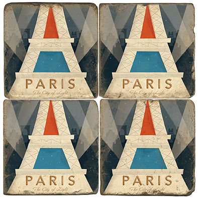 Art Deco Paris Coaster - set of 4