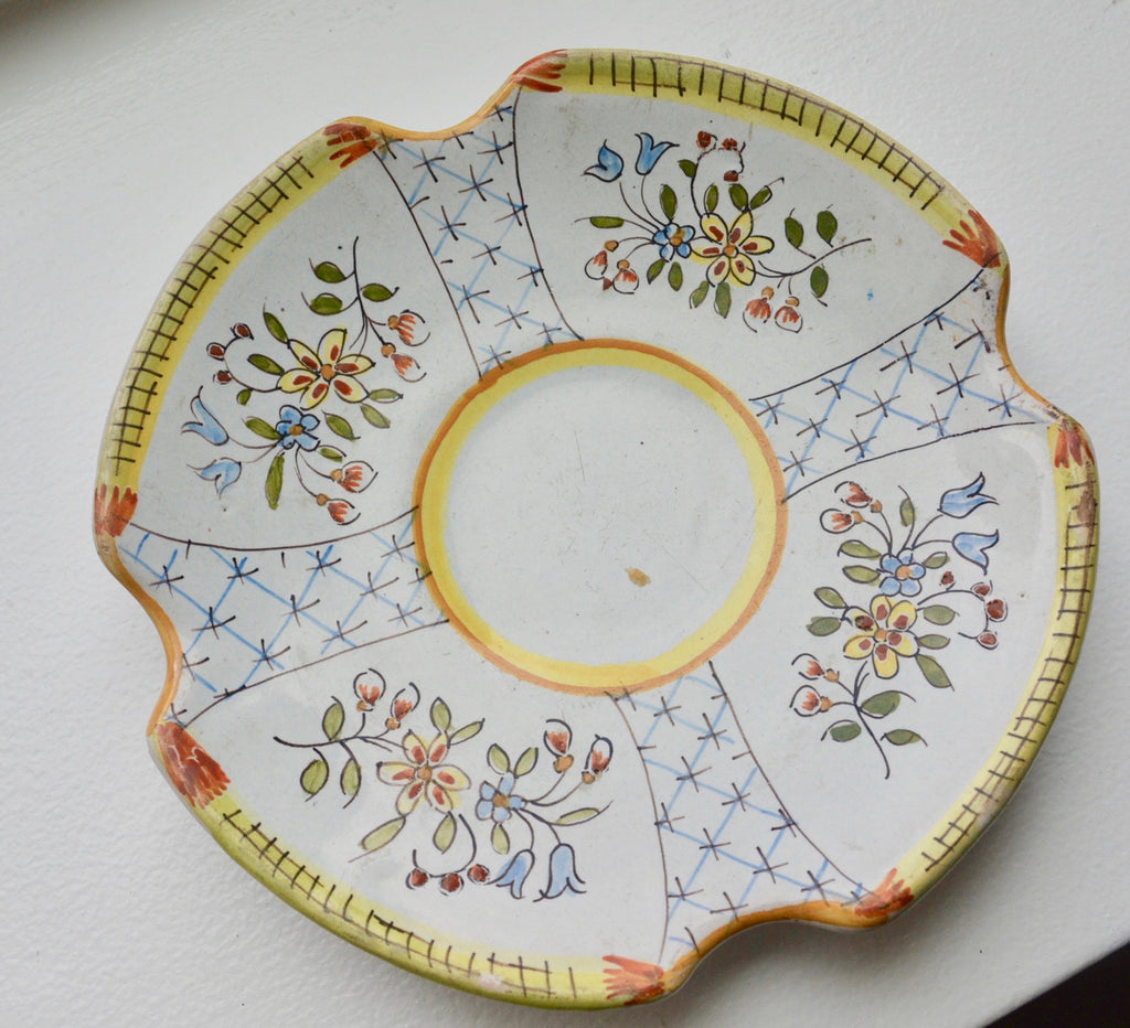 Antique Faience Dish from France