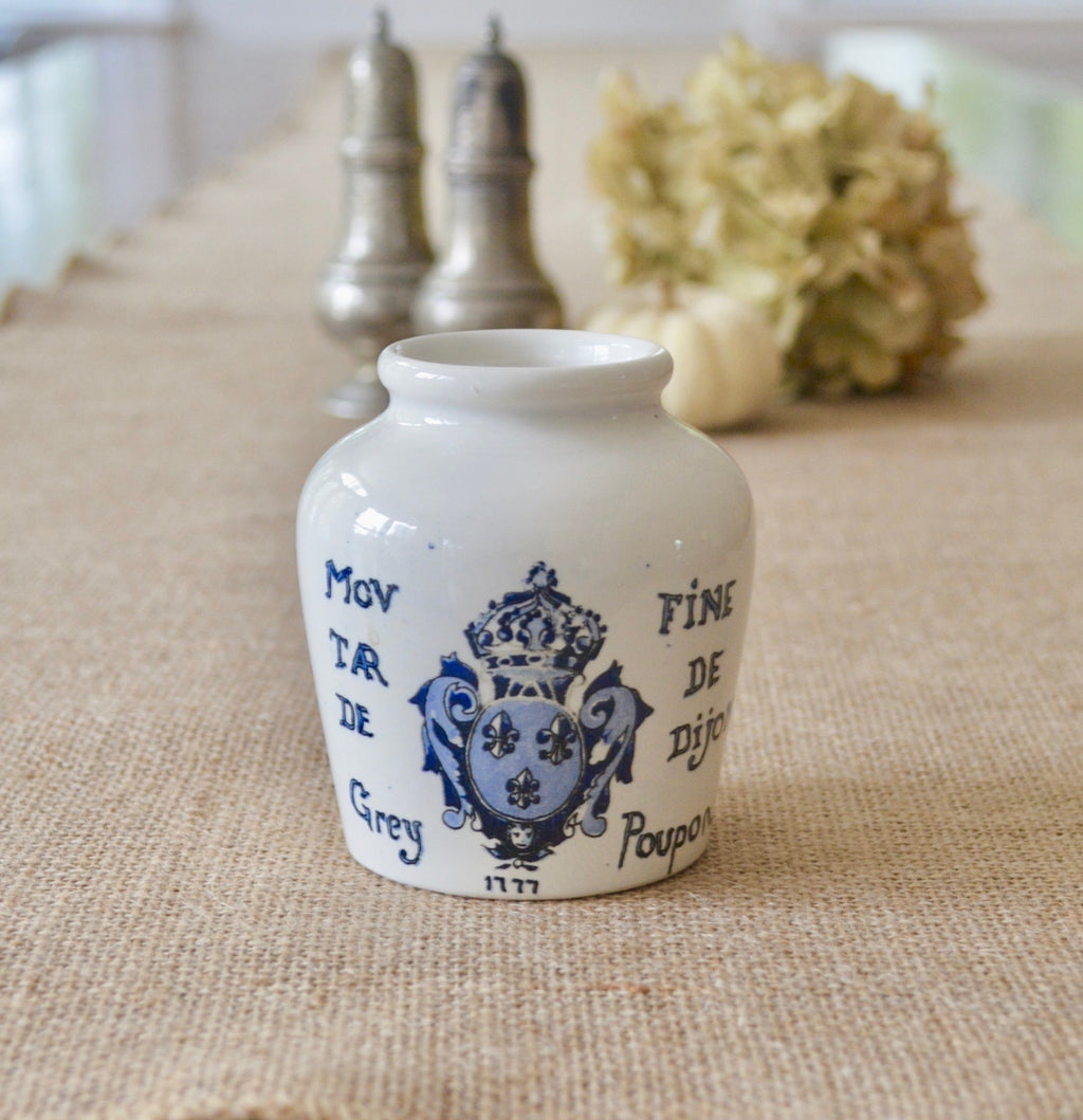 Vintage Grey Poupon Mustard Pot