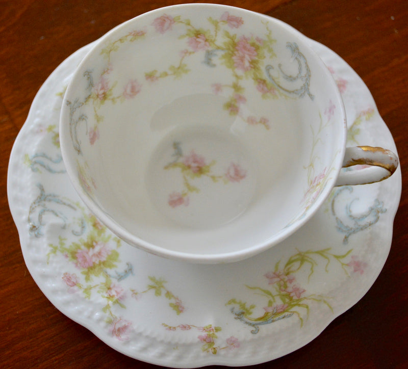 Haviland & Co. Princess Vintage Limoges Tea Cup and Saucer - set of 2
