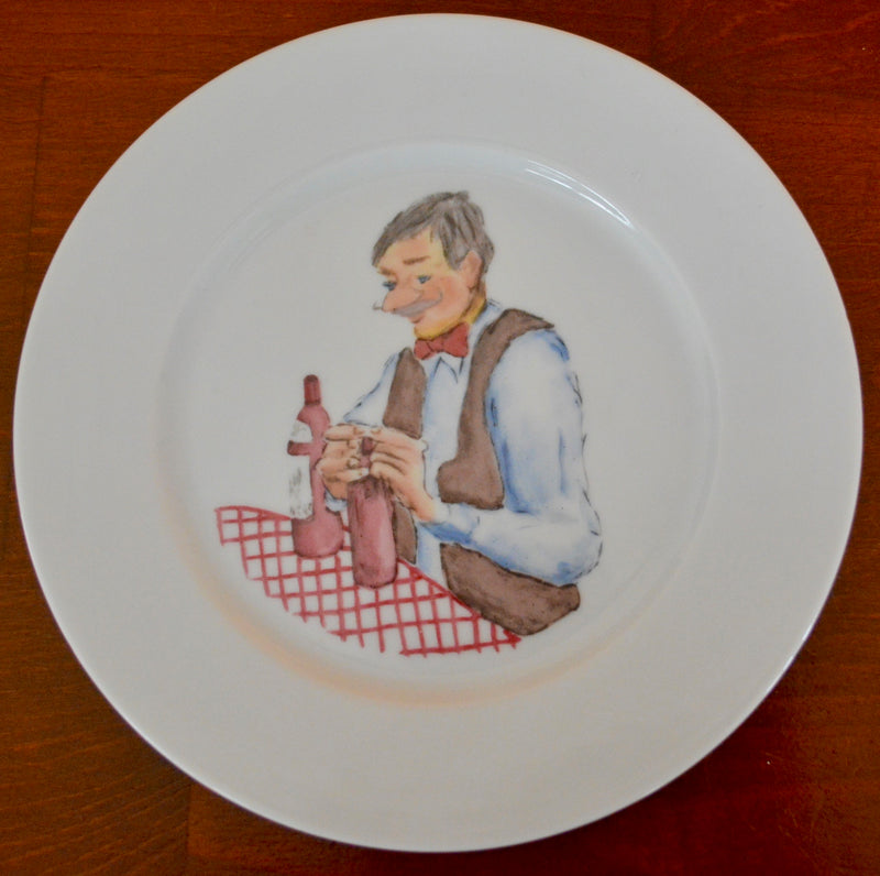 H. Wallaeys Ilustrated Plate by Revol