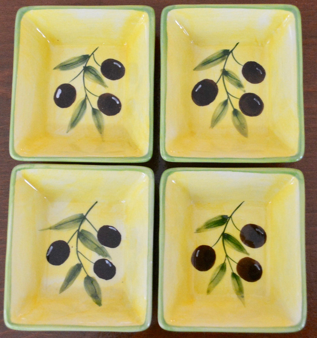 Olive Dishes - set of 4