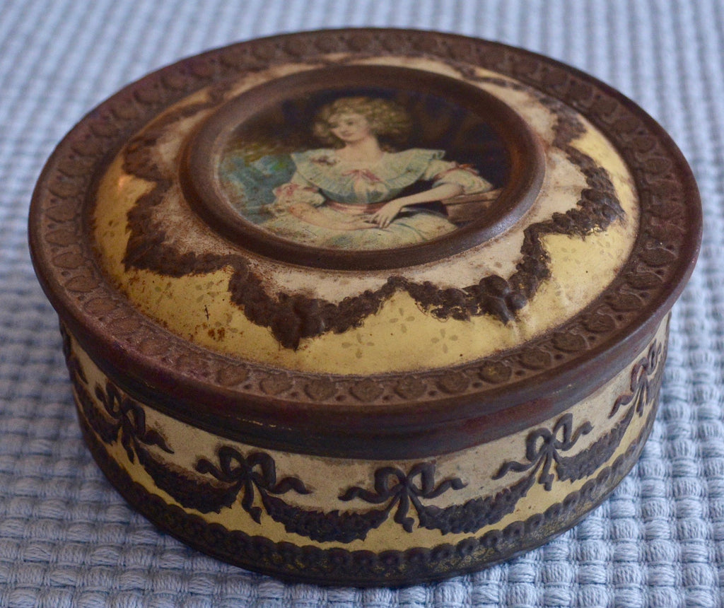 Antique English Confectionery Tin