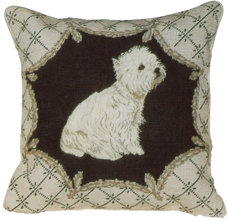 Westie Aubusson Pillow