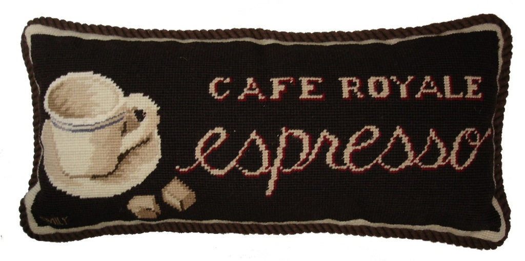 Cafe Royale Espresso Aubusson Pillow