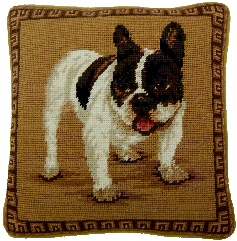 French Bulldog Aubusson Pillow